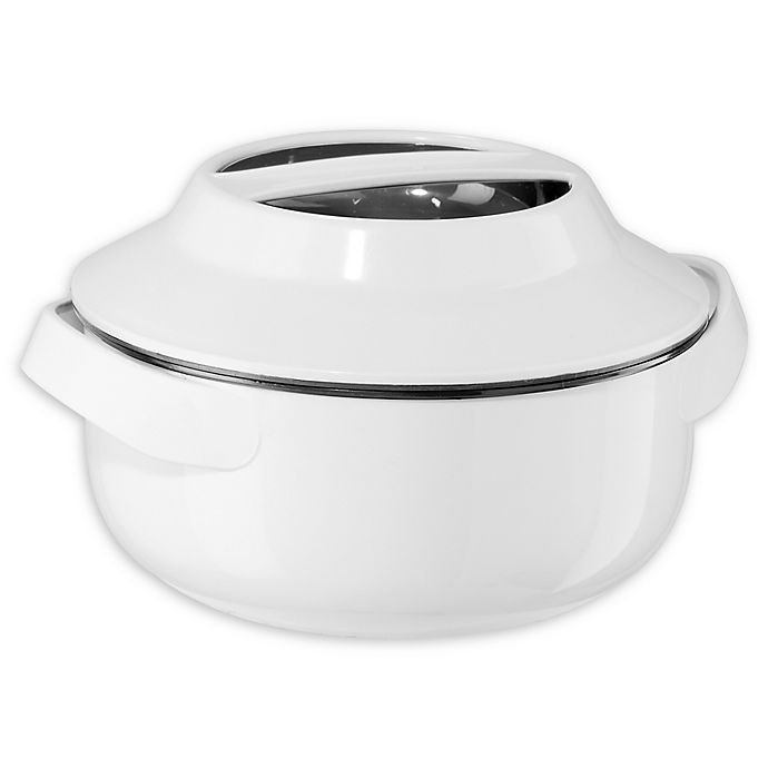 Alternate image 1 for Oggi™ Insulated Serving Bowl in White