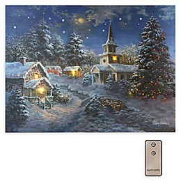Winter Village Battery-Operated LED Wall Art