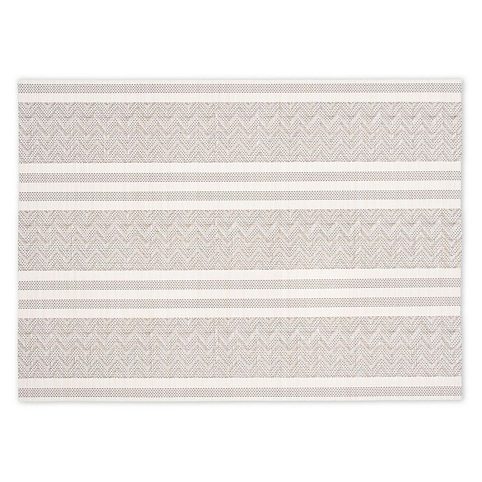 Alternate image 1 for Woven Striped Placemats (Set of 4)