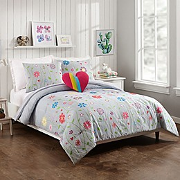 Jessica Simpson Growing Garden 4-Piece Reversible Comforter Set