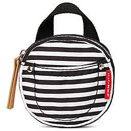 SKIP*HOP® Pacifier Pocket in Black/ White Stripe