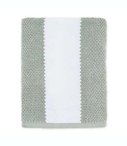 Toalla de medio baño Under the Canopy® de algodón orgánico en blanco y verde enebro