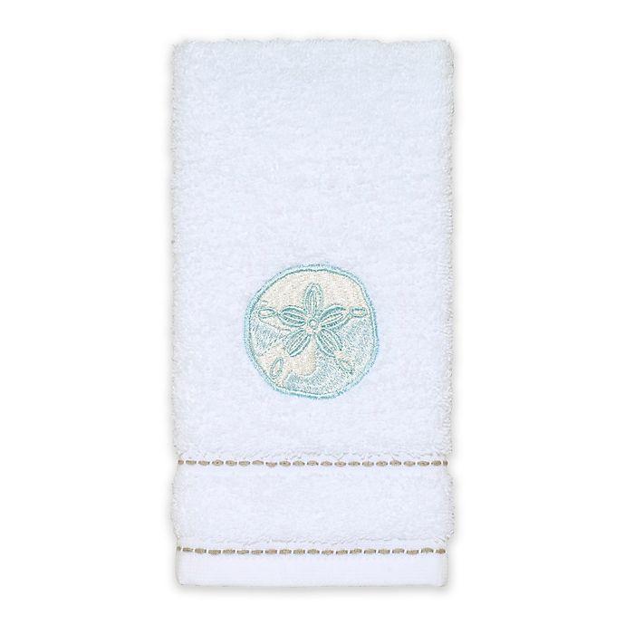 Alternate image 1 for Avanti Farmhouse Shell Fingertip Towel in White