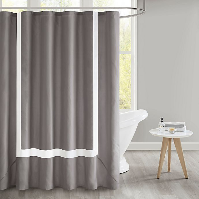 Alternate image 1 for 510 Design Carroll Shower Curtain in Grey