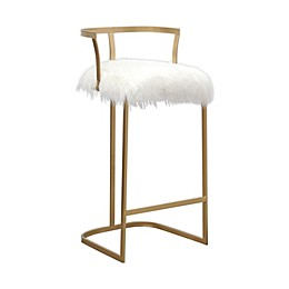Abbyson Living® Richelle Bar Stool in White/Gold