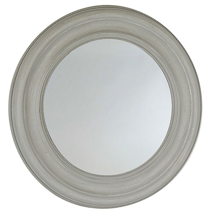 Alternate image 1 for Bee & Willow™ Home 24-Inch Round Wall Mirror in Light Grey