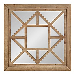 Kate and Laurel Lawford Square Mirror in Brown
