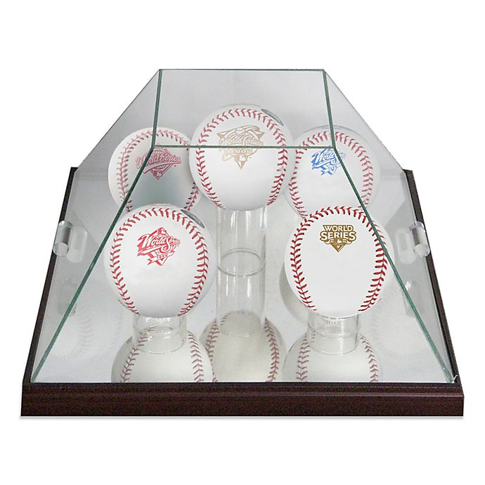 Alternate image 1 for Glass Pyramid 5-Ball Baseball Display Case