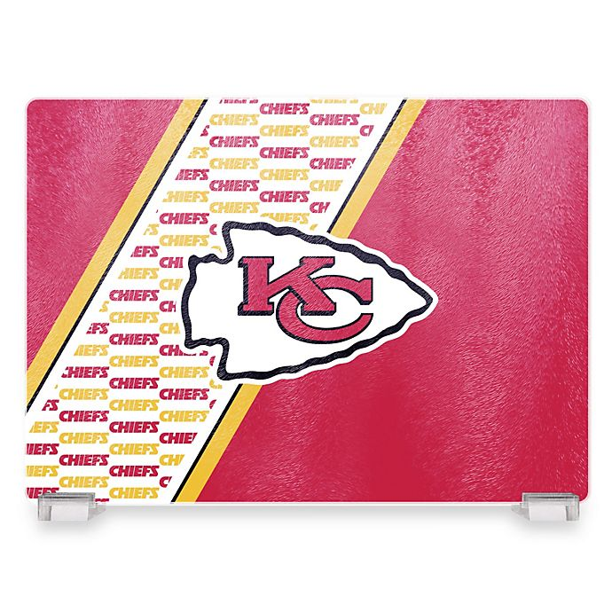 Alternate image 1 for NFL Kansas City Chiefs Tempered Glass Cutting Board