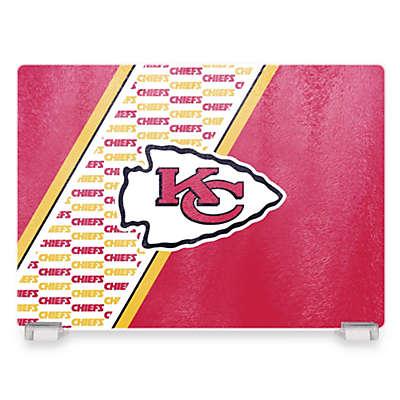 NFL Kansas City Chiefs Tempered Glass Cutting Board