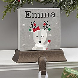 Wintry Cheer Deer Personalized Stocking Holder