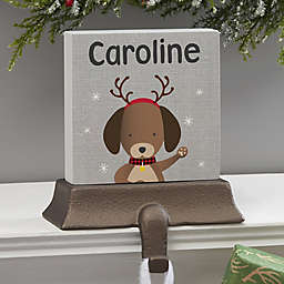 Wintry Cheer Dog Personalized Stocking Holder