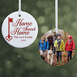 """Home Sweet Home Personalized Ornament- 2.85"""" Glossy - 2 Sided"""
