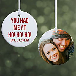 """Christmas Expressions Personalized Ornament- 2.85"""" Glossy - 2 Sided"""