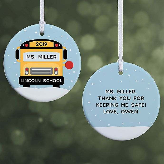 Alternate image 1 for Best Bus Driver Personalized Ornament- 2.85\