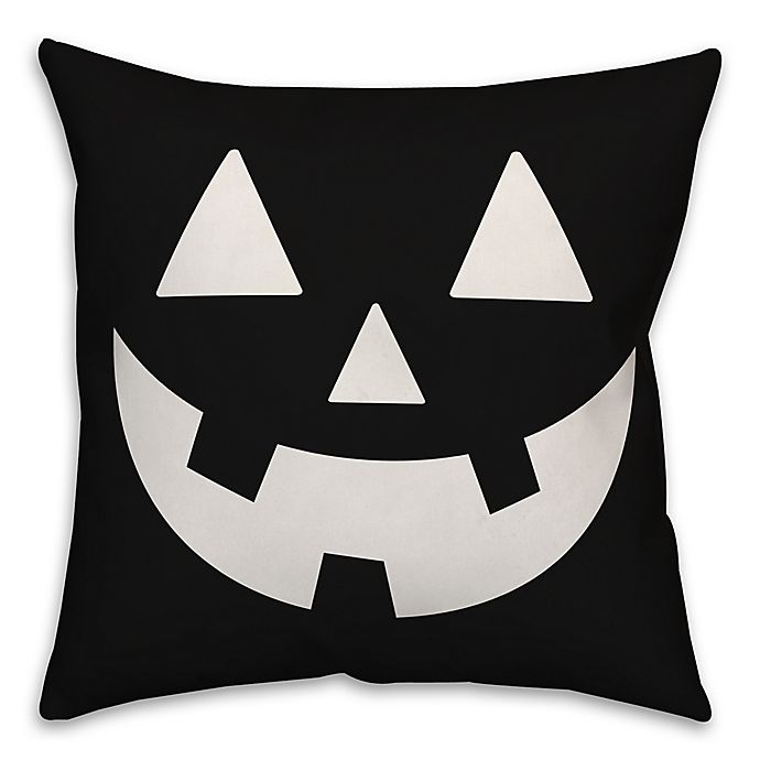 Alternate image 1 for Designs Direct Jack-O-Lantern 18-Inch Square Throw Pillow in Black