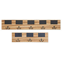 Danya B Coat Rack in Beige with Chalkboard Tags
