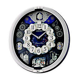 Seiko Melodies in Motion 18.25-Inch Wall Clock in Silver Metallic