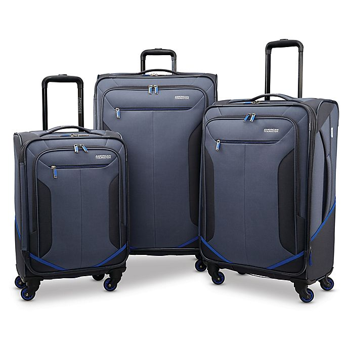 Alternate image 1 for American Tourister® Rematch Luggage Collection in Blue/Black