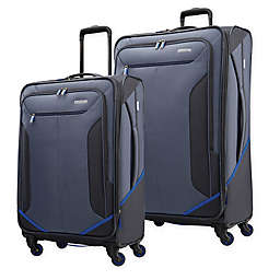American Tourister® Rematch Spinner Checked Luggage in Blue/Black