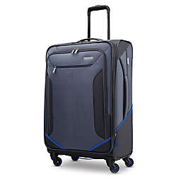 American Tourister® Rematch 25-Inch Spinner Checked Luggage in Blue/Black