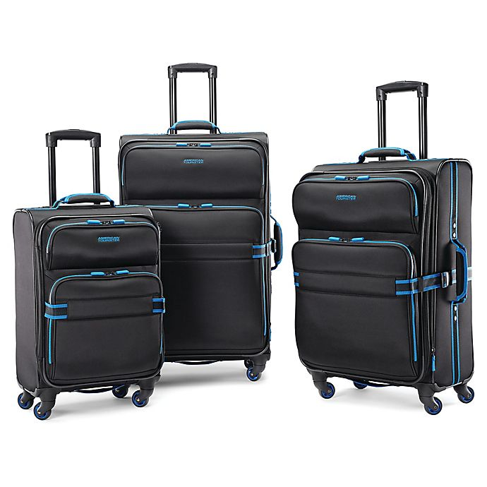 Alternate image 1 for American Tourister® Exo Eclipse Luggage Collection in Black/Blue