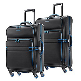 American Tourister® Exo Eclipse Spinner Checked Luggage in Black/Blue