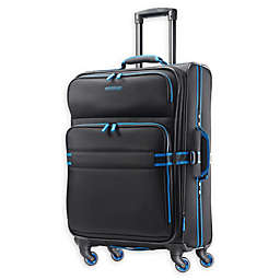 American Tourister® Exo Eclipse 24-Inch Spinner Checked Luggage in Black/Blue