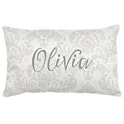 Carousel Designs® Painted Damask Lumbar Pillow in French Grey