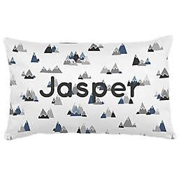 Carousel Designs® Mountains Lumbar Pillow in Blue/Grey