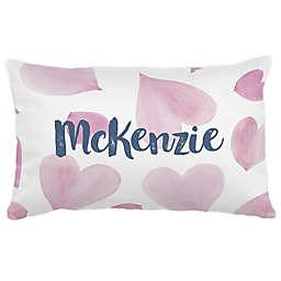 Carousel Designs® Watercolor Hearts Lumbar Pillow
