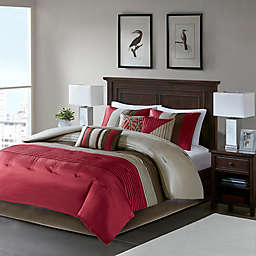 Madison Park® Amherst 7-Piece King Comforter Set in Red