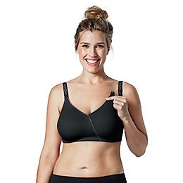 Bravado Designs Essential Embrace™ Nursing Bra in Black/Purple