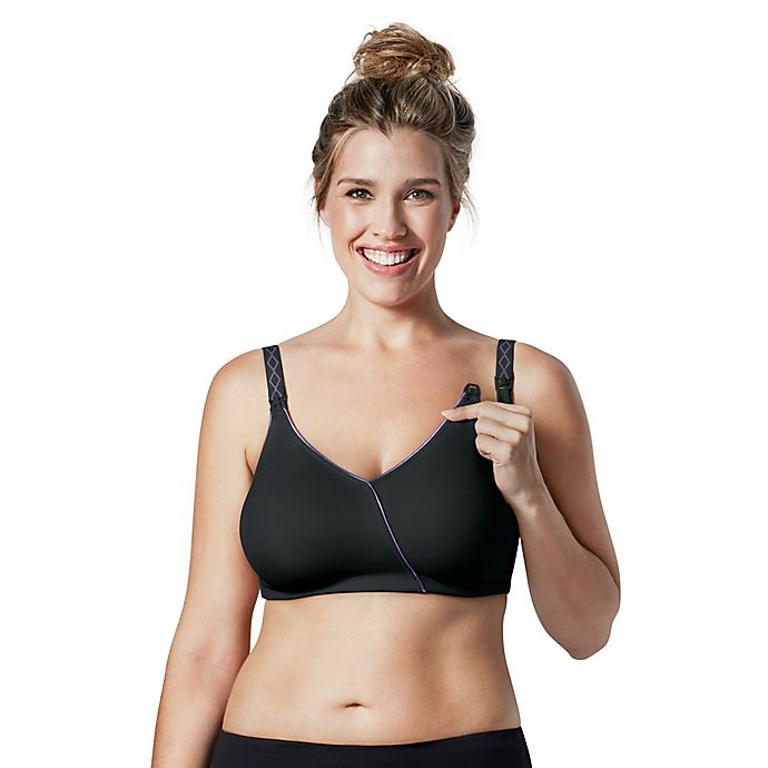 Alternate image 1 for Bravado Designs Essential Embrace™ Nursing Bra in Black/Purple