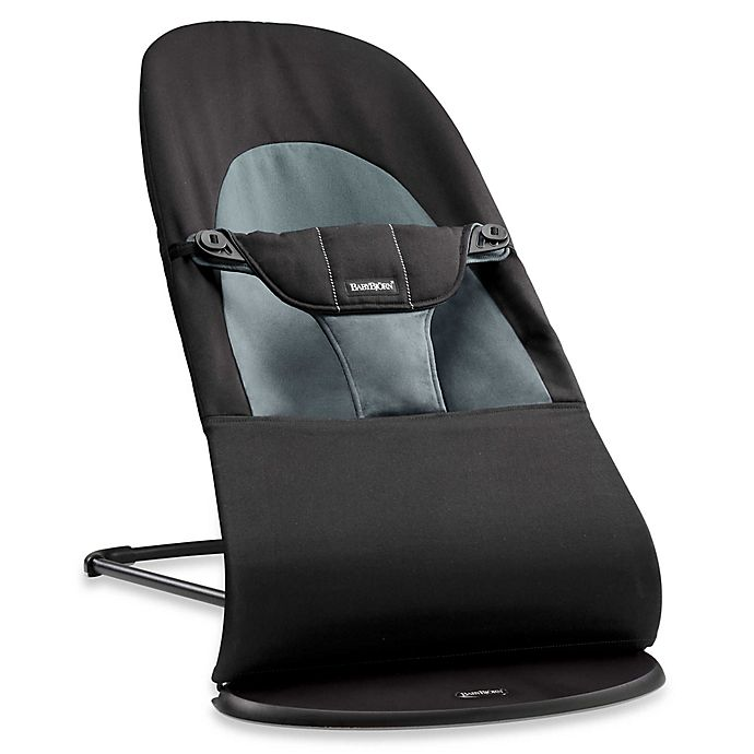 Alternate image 1 for BABYBJORN® Bouncer Balance Soft in Black/Dark Grey