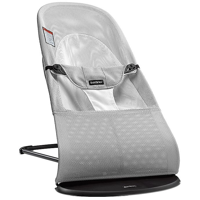 026854075 BABYBJORN® Bouncer Balance Soft in Silver/White Mesh | buybuy BABY