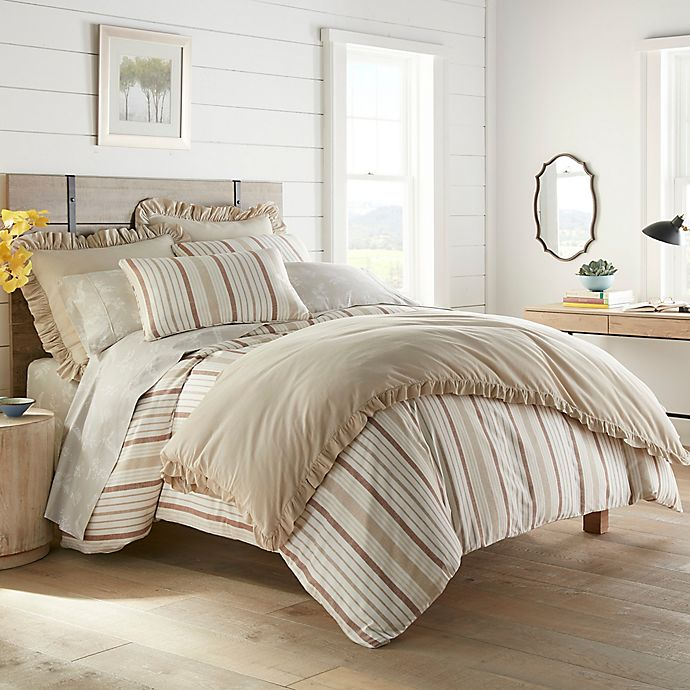 Alternate image 1 for Stone Cottage Conrad 3-Piece Full/Queen Duvet Cover Set in Clay