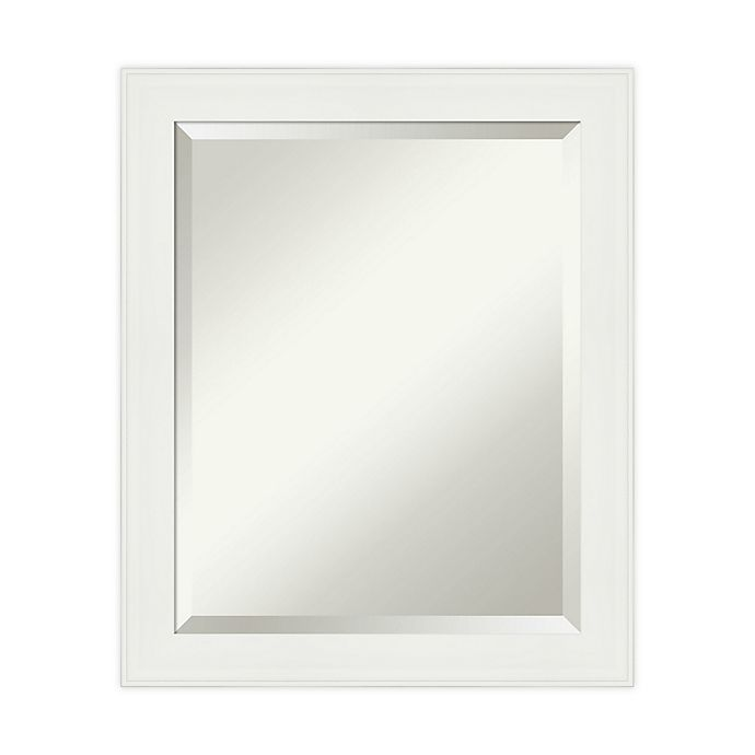 Alternate image 1 for Amanti Art Vanity Narrow Framed Bathroom Vanity Mirror in White