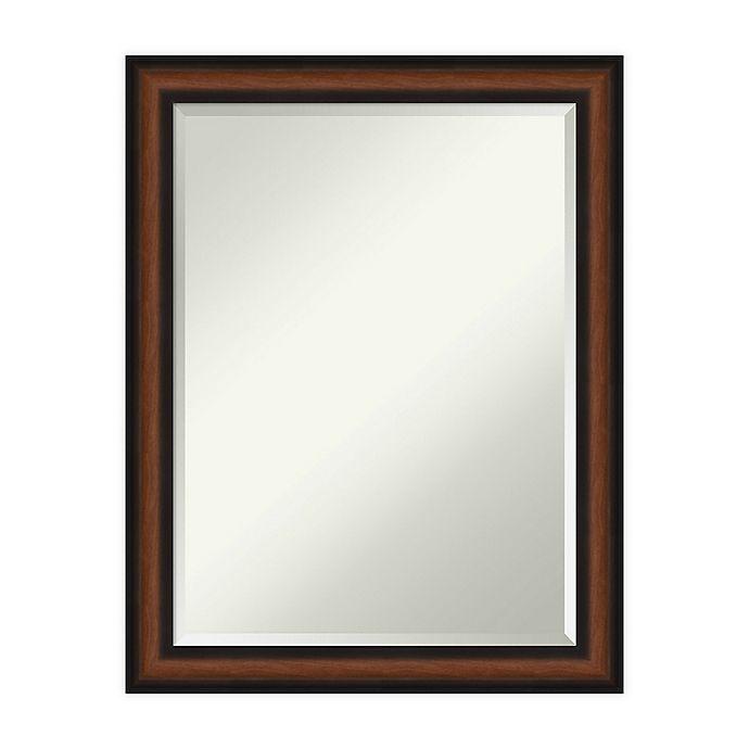Alternate image 1 for Amanti Art Yale Walnut Framed Bathroom Vanity Mirror in Brown