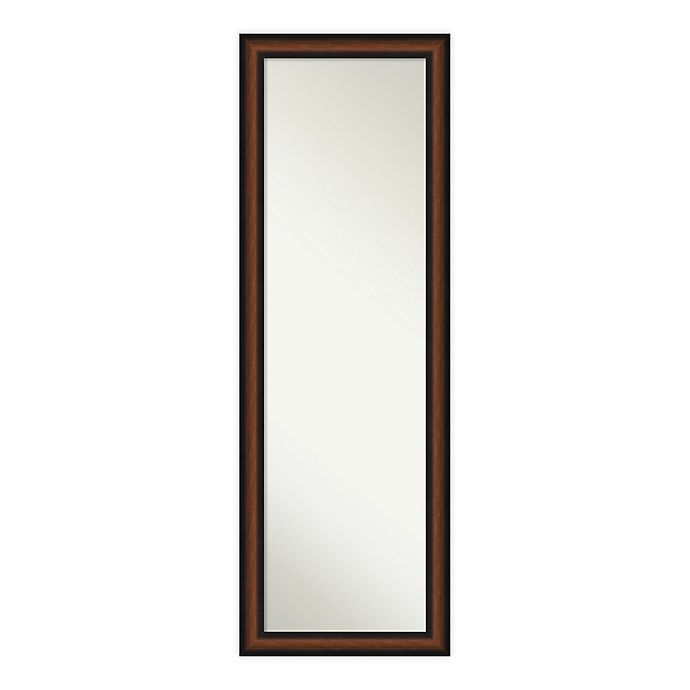 Alternate image 1 for Amanti Art Yale Walnut 17-Inch x 51-Inch Framed On the Door Mirror in Brown