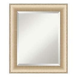 Amanti Art Elegant Brushed Honey 21-Inch x 25-Inch Framed Bathroom Vanity Mirror in Gold