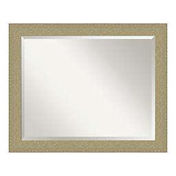 Amanti Art Mosaic 32-Inch x 26-Inch Framed Bathroom Vanity Mirror in Gold