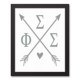 Designs Direct Phi Sigma Sigma Arrows Framed Canvas Wall Art