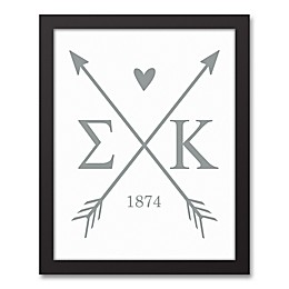 Designs Direct Sigma Kappa Arrows Framed Canvas Wall Art