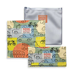 Sugarbooger® by o.r.e Good Lunch Set of 3 Snack Sack in Road Trip