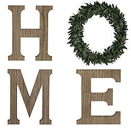 "Bee & Willow™ Home ""Home"" 24-Inch x 20-Inch Wood Wall Sign in Natural"