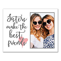 Sisters Make the Best Friends 14-Inch x 11-Inch Personalized Cavas Wall Art