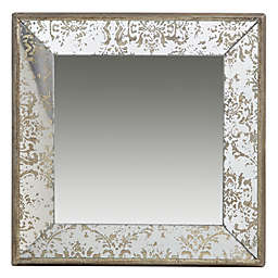 A&B Home 23.6-Inch Square Mirror in Gold