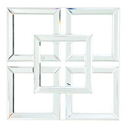 A&B Home Geometric 15.8-Inch Square Mirror
