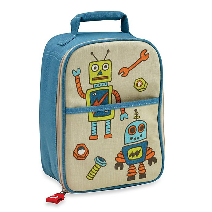 Alternate image 1 for Sugarbooger® by o.r.e Zippee Lunch Tote in Retro Robot